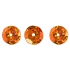 Sequins Round 10mm Aprx 450pcs Hologram Orange
